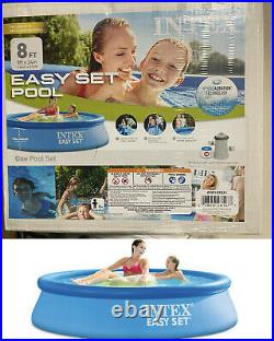 NEW Intex 8ft x 30in Easy Set Swimming Pool with Filter & Pump SHIP NOW