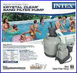 New Intex Sand Filter Pump with GFCI for Pools, 3000-Gallon, 3000 GPH