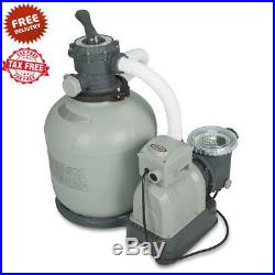 Pool Sand Filter Pump For Above Ground Pool 16 3000 gph With GFCI Intex Krystal