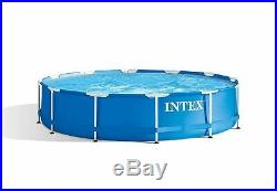 Portable Swimming Pool Set Metal Frame Above Ground with Filter Pump New