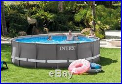 Round Above Ground Swimming Pool Liner With Filter Pump Ladder Cover 14' X 42