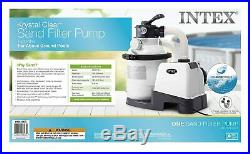 SHIPS FAST Intex 26643EG 1200 GPH Sand Filter Pump For Above Ground Pool 10-Inch