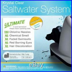 Salt Water Filter System Sanitizing Above Ground Pools Max 7000 Gal Auto Recycle