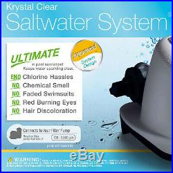 Salt Water System for Above-Ground Swimming Pools up to 15,000 Gallons Summer