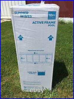 Summer Waves 10x30 Active Metal Frame Above Ground Pool w Pump. Compare Intex