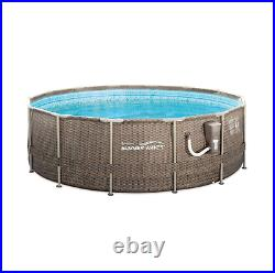 Summer Waves 14ft x 48in Frame Outdoor Swimming Pool with Ladder & Pump IN HAND