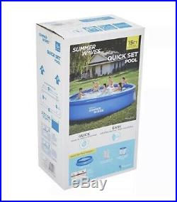 Summer Waves Intex 15 ft X 36 Quick Set Ring Pool with 600 GPH Filter Pump