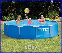 Swimming Pool Above Ground Metal Frame Set Filter Pump As A Gift Intex 12' x 30
